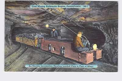 Vintage Postcard Pennsylvania Coal Mining Anthracite Region Electric Locomotive