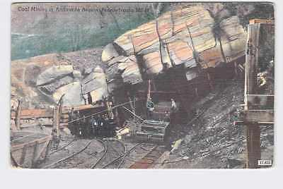 Vintage Postcard Pennsylvania Coal Mining In Anthracite Region