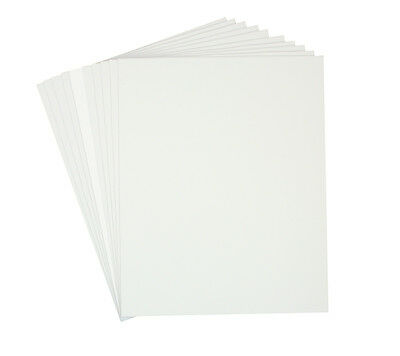 Set of 100 8x10 White COLOR Precut Mats for 5x7 photo + Backing Board  +Bags