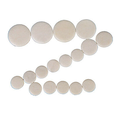 17pcs Clarinet Leather Pads Replacement for Exquisite Wind Instrument BF