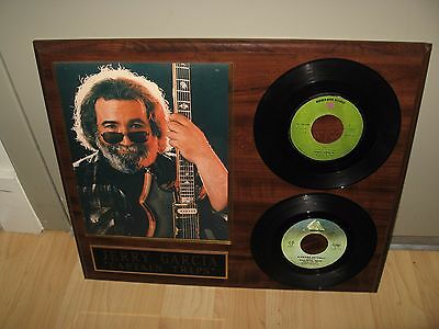 Jerry Garcia 45 RPM Records - Vintage Rock & Roll Plaque Artwork Grateful Dead