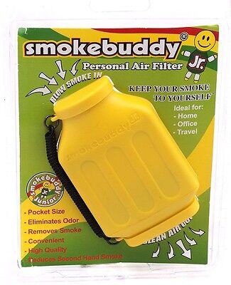 Yellow Smoke Buddy JR. Personal Air Filter Pocket Size Eliminates Smoke Odor