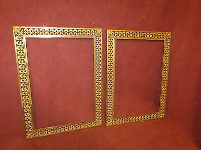 Pair Antique Bronze Picture Frames Probably French