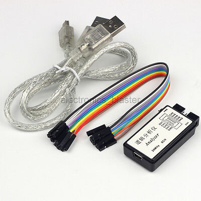 USB 24MHz 8 Channel 8 CH Digital Logic Analyzer or SCM ARM FPGA