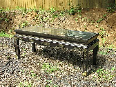 Chinese Antique Style Hardstone Inlaid Coffee Table