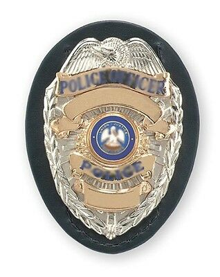 "New Safariland Shield Style Badge Holder Color Black, Plain 2.5""x3.5"" 7350-03-2"