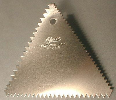 """Ateco Cake Decorating Comb Stainess Steel 3 Sided 4"""""""