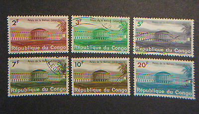 Congo Stamps 1964 Sc#500-509 National Palace NM NG