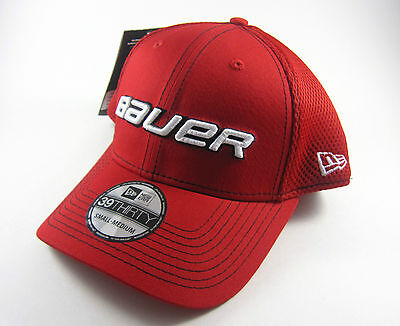 Bauer New Era Neo 39Thirty Stretch Fit Hat! Fitted Cap Senior SR, S M L Red Navy