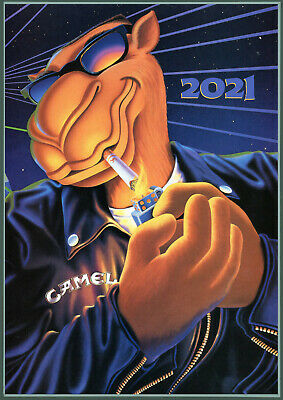 2020 Wall Calendar [12 pages A4] Tobacco Ads Camel Vintage Advert Poster M485