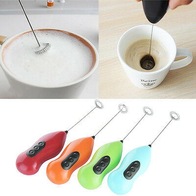Mini Coffee Milk Drink Electric Whisk Mixer Foamer Frother Kitchen Egg Beater