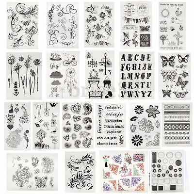 Various Alphabet Transparent Clear Rubber Stamp Sheet Cling Scrapbooking DIY