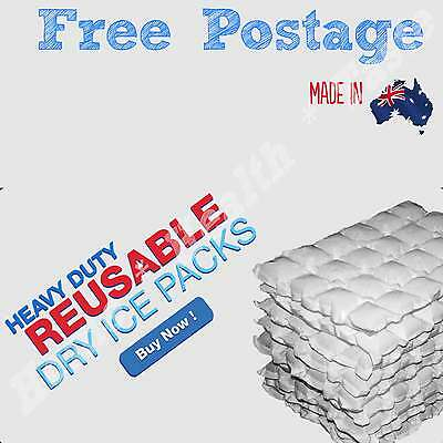 25 Sheets Eski Ice Box Ice Packs Reusable Hydratable Dry Wrap Cooler / Hot Pack