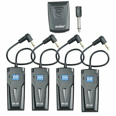 GODOX RT-16 Wireless photo Studio Flash Trigger w/4 Receivers For Canon Nikon