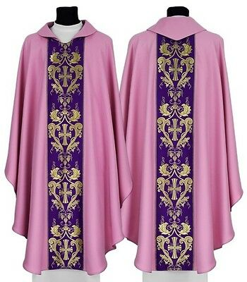 Rose Gothic Chasuble with matching stole 022-R us