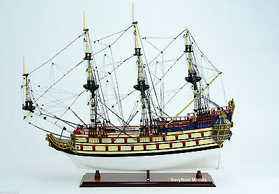 "THE UNICORN / LA LICORNE 34"" - Handmade Wooden Tall Ship Model"