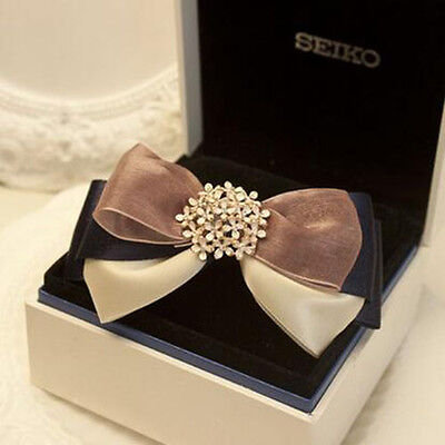Gold Ribbon Bow Hair Clips Clamp Hair Ornaments Rich Multicolored Decorations