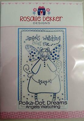 Polka Dot Dreams Angels Watching Rosalie Dekker Stitchery Pattern