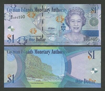 CAYMAN ISLANDS - $1  2010  QEII  P38c  Uncirculated  ( Banknotes )