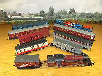 52Fp Hornby L5226 Locomotive With Hornby Playcraft & Lima Coaches Freight Cars