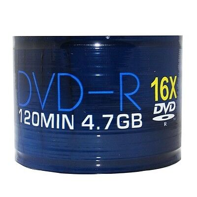 PACK OF 50 x BLANK DISCS DVD-R DVD DISKS RECORD MOVIES FILMS 4.7 GB 120 MINS 16X