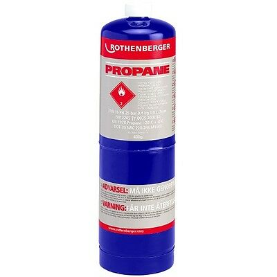 Rothenberger Propane Gas Cylinder 400gms Superfire Blow Torch Solder Cartridges