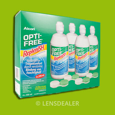 »» OPTI-FREE REPLENISH 4 x 300ML SPARPACK KONTAKTLINSEN PFLEGEMITTEL «« ALCON