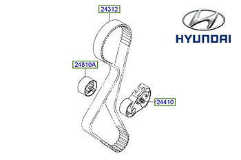 Genuine Hyundai Santa Fe Camshaft Timing Belt - 2431227250