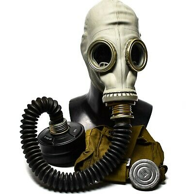 Soviet USSR military army Gas mask GP-5 with black hose