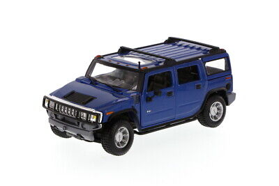 2003 Hummer H2 SUV w/ Sunroof Blue Maisto 31231 1/27 Scale Diecast Car