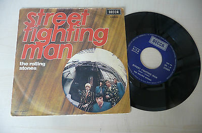 "THE ROLLING STONES""STREET FIGHTING MAN- disco 45 giri DECCA Italy 1968""PERFETTO"