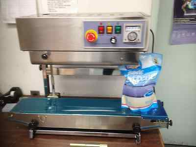 Dingye Fr-900V Vertical Automatic Continuous Plastic Bag Band Sealer Machine