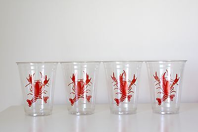4 Disposable Plastic Lobster Crawfish Cups