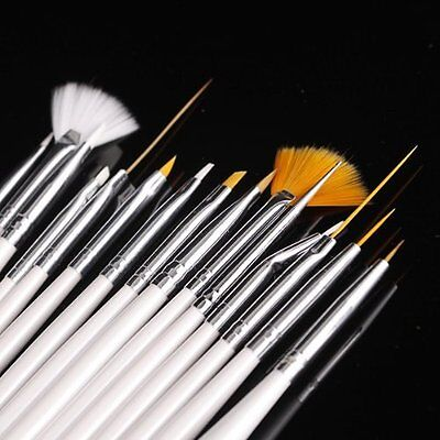 15pcs Nail Art Gel Design Pen PaInting Polish Brush Dotting Drawing Tool Set BF