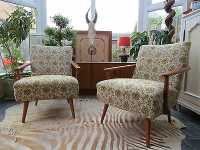 Pair Of East German / Danish Style Cocktail Lounge Armchairs C1970 My16/60
