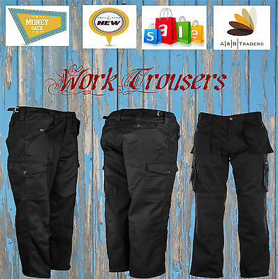 Mens Tuff Duty Cargo Work Trouser MultiPocket Combat Tough Stitched Construction