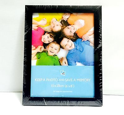 """Wooden Photo Frame Picture Certificate Wall & Desk Mountable Black 6x8"""""""