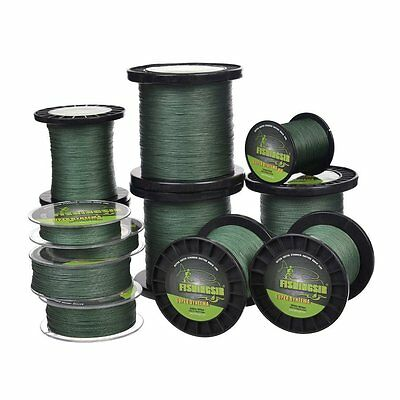 Moss Green Dyneema Braid Line Carp Pike Coarse Fishing Spool 137-1000m, 12-120LB
