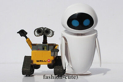 2 pcs Lot New Wall E Walle Eve Movie Toys Wall-E Robot action Figures Gift