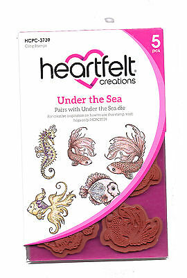 Heartfelt Creations Under The Sea Cling Rubber Stamp