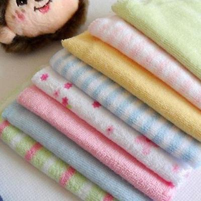 8Pcs Soft Baby Infants Face Washers Hand Bath Towels Cotton Wipe Wash Cloth