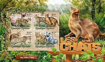Z08 Imperforated TG16203a TOGO 2016 Cats MNH