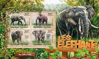 Z08 Imperforated TG16207a TOGO 2016 Elephants MNH