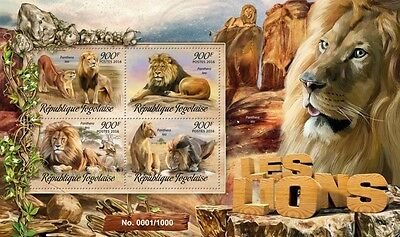 Z08 Imperforated TG16211a TOGO 2016 Lions MNH