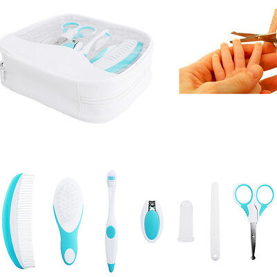 7X Baby Healthcare Grooming Kit Set Kids Nail Clipper Comb Toothbrush Wholesale