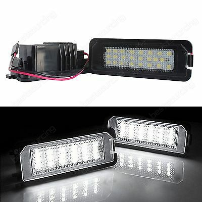 24 SMD LED Licence Number Plate Light For SEAT Altea Exeo 3R Leon 1P 5F Ibiza 6J
