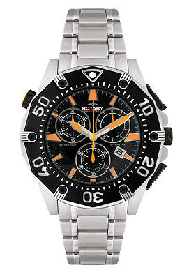 Rotary AGB90036/C/04 Men's Swiss Made Chronograph Stainless Steel Watch