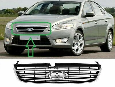 Ford Mondeo Iv 2007-2010 Front Main Centre Grille Black Chrome New High Quality