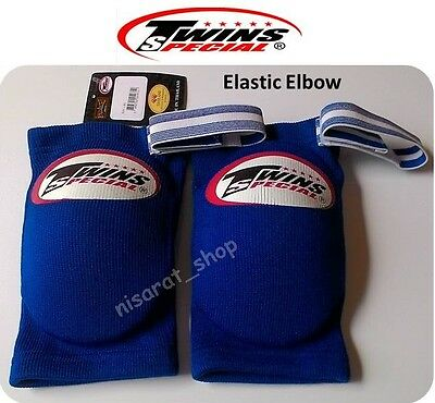 New Twins Elastic Elbow Pads Guards Muay Thai Kick Boxing Mma Free Shipping