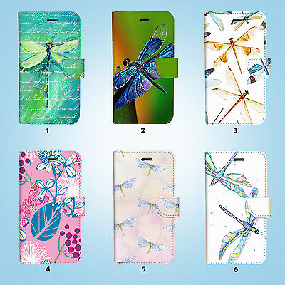 Dragonfly Flip Wallet Case Cover Samsung Galaxy S6 7 8 9 10e Edge Plus Note 029